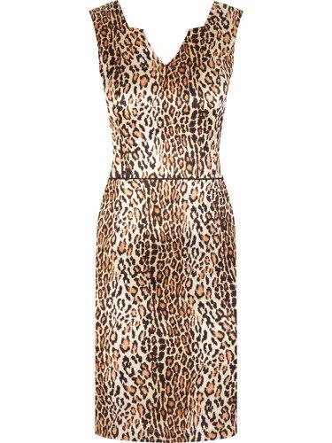 Elegancka sukienka w lamparcie cętki Karmena.