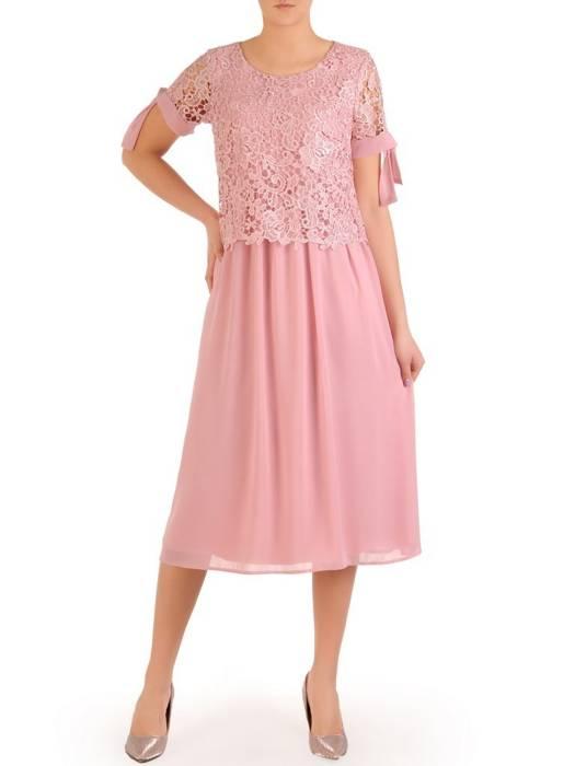 Elegancka sukienka z gipiury i szyfonu 29422
