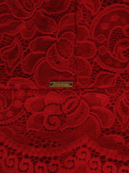 Elegancka sukienka z koronkową baskinką Ajsza I.