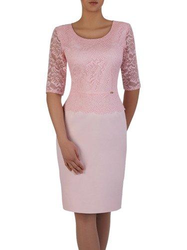 Elegancka sukienka z koronkową baskinką Ajsza VI.