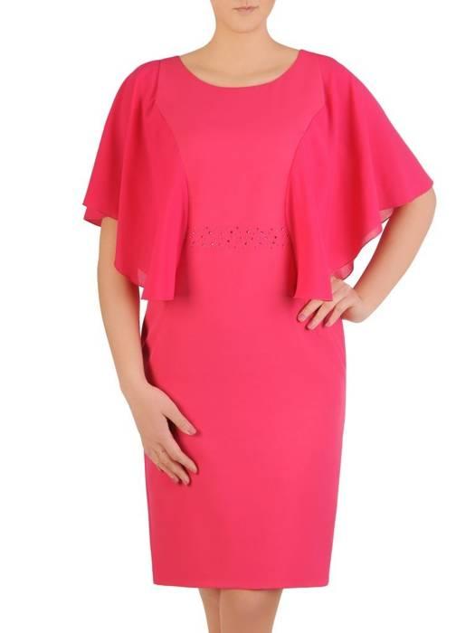 Elegancka sukienka z ozdobnymi rękawami 29224