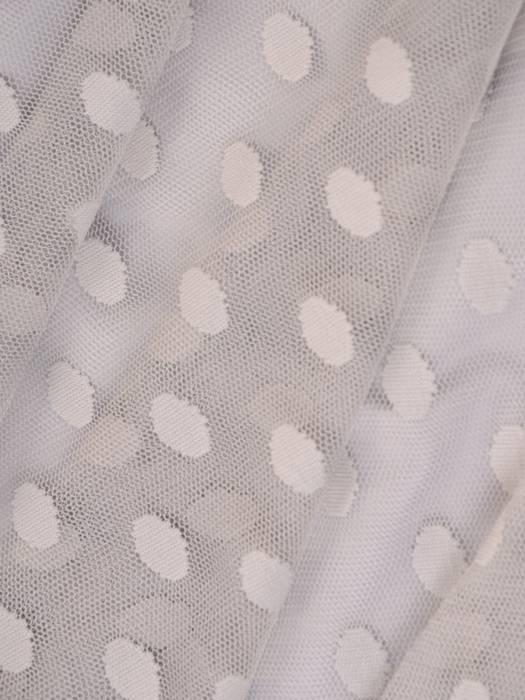 Elegancka szara sukienka z tiulu w groszki 27633