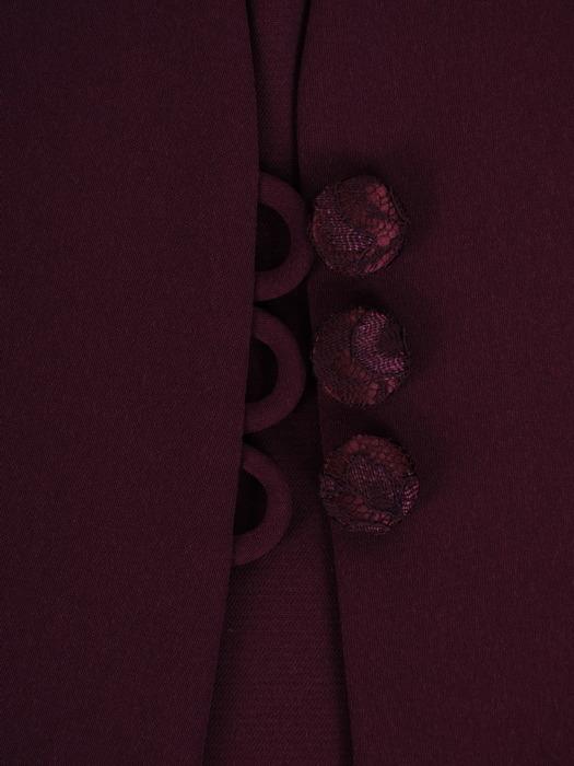 Elegancka, trzyczęściowa garsonka w odcieniu śliwkowym Amadea III