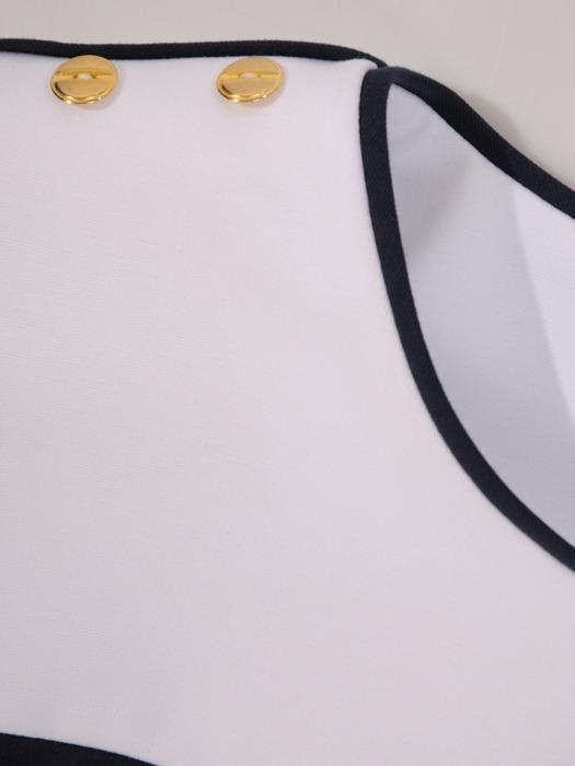 Elegancki komplet w marynarskim stylu 21761
