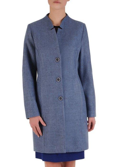 Elegancki płaszcz z ozdobną stójką Iwetta V