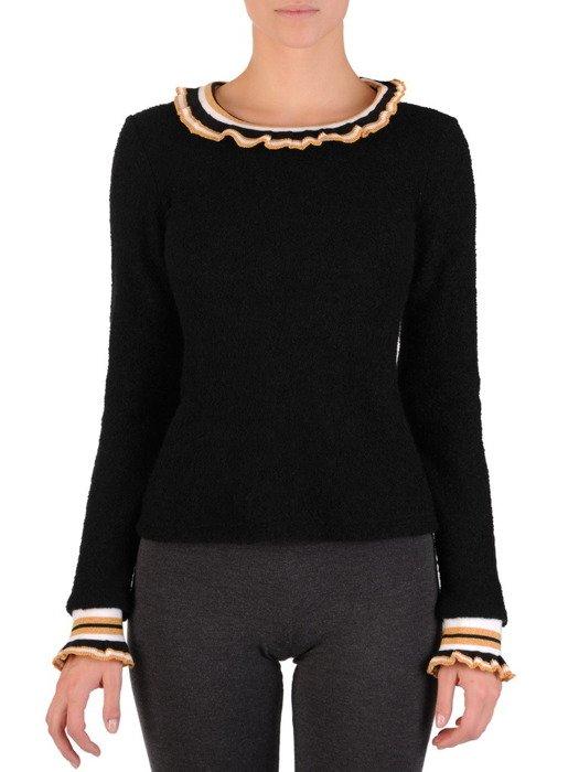 Elegancki sweter z ozdobną stójką 18552.