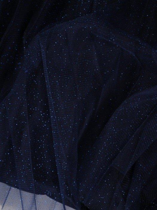 Granatowa połyskująca tiulowa spódnica 24838