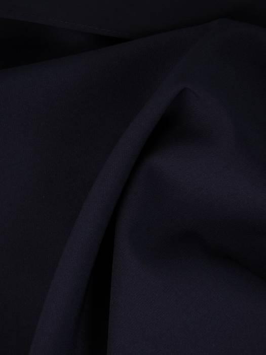 Granatowa sukienka wyjściowa z ozdobnym marszczeniem 26329