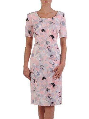 Klasyczna sukienka w pastelowe kwiaty Larissa I.
