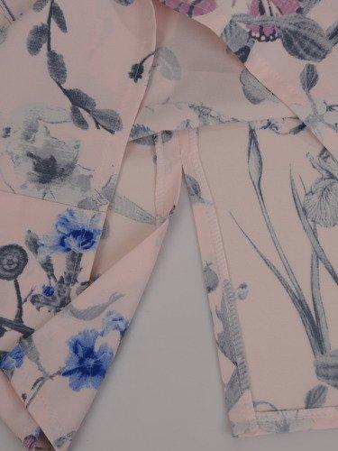 Klasyczna sukienka w pastelowe kwiaty Larissa IV.