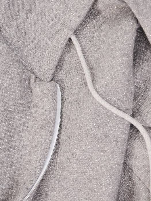 Komplet dresowy damski, bluza zapinana na zamek z kapturem 29623