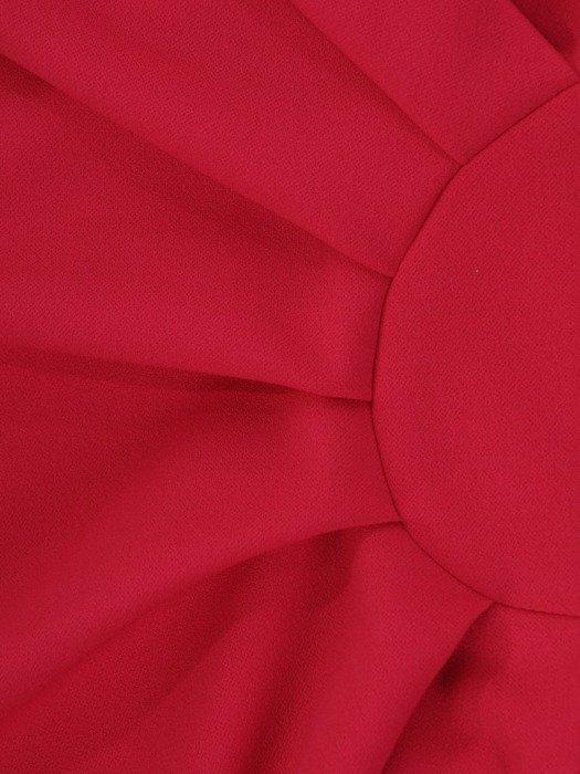 Kopertowa amarantowa sukienka, modna kreacja z dzianiny 24851