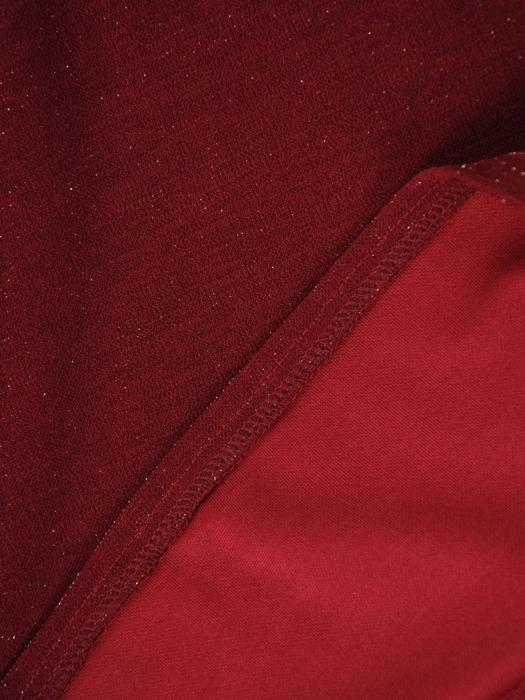 Kopertowa sukienka wizytowa, kreacja z połyskującej dzianiny 22410