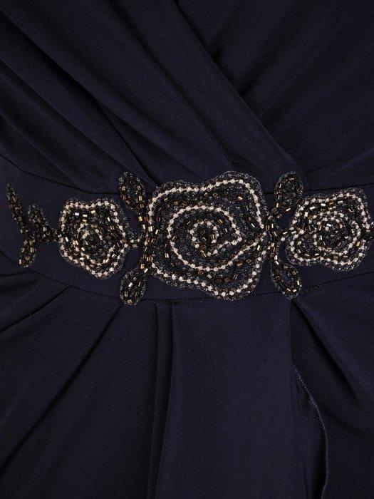 Kopertowa sukienka z asymetrycznym marszczeniem 18530.