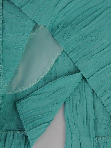 Kopertowa sukienka z eleganckiej, kreszowanej tkaniny 15676.