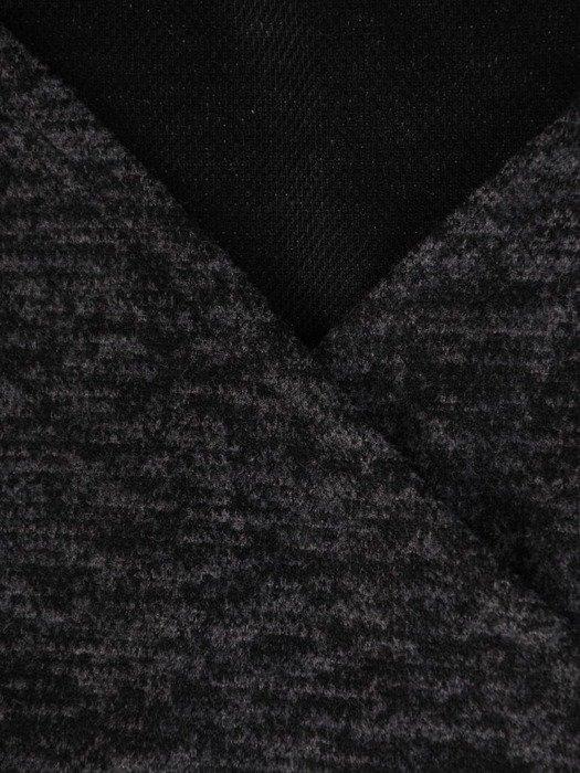 Kopertowa sukienka z melanżowej dzianiny 24127