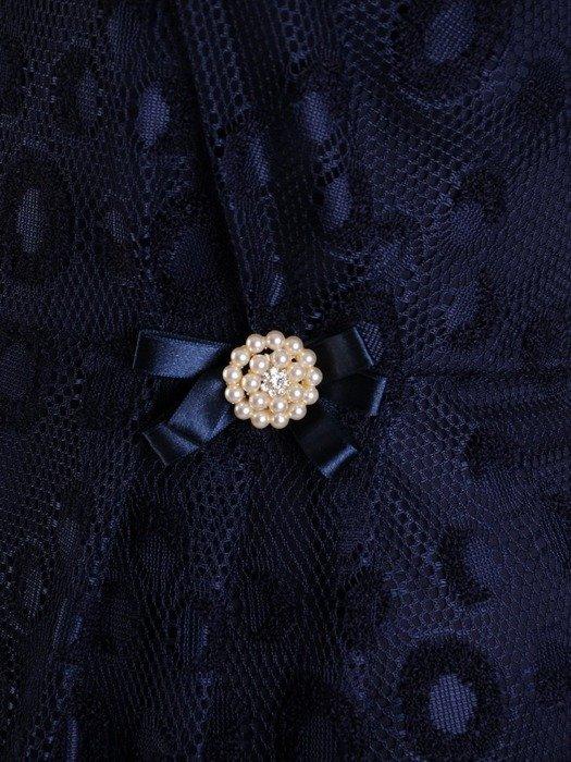 Koronkowa kreacja maxi, piękna sukienka w kolorze granatowym 23612