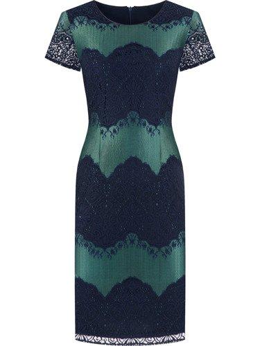 Koronkowa sukienka z ozdobnym połyskiem Gerda V.