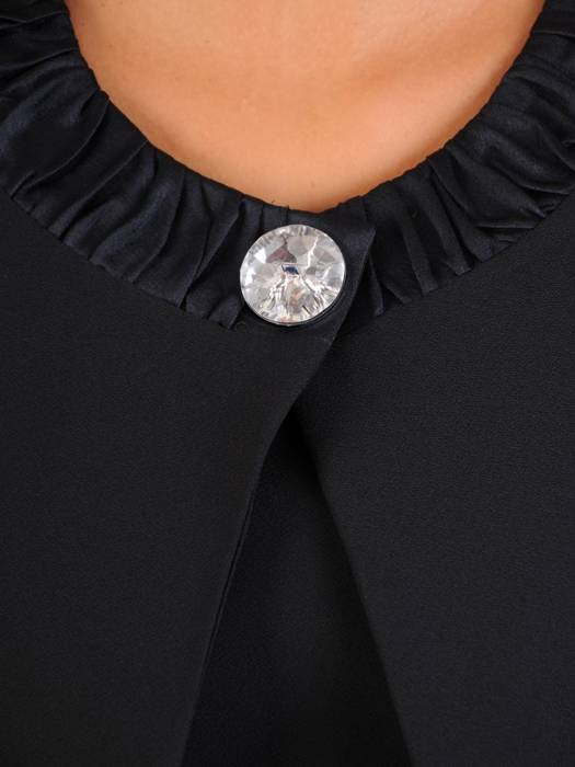 Kostium damski, czarna sukienka z żakietem 27347