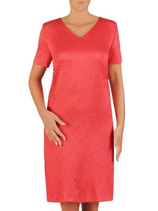 Kostium damski, elegancka sukienka z szyfonową narzutką 27070