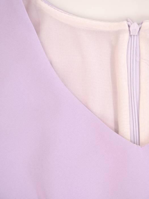 Kostium damski, liliowa sukienka z żakietem  29096