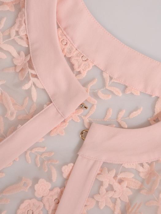 Kostium na wesele, elegancka sukienka z koronkową narzutką 21001.