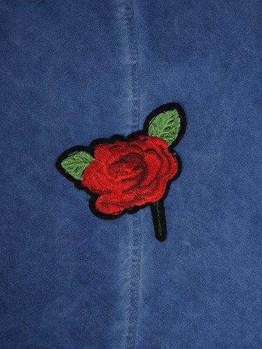 Koszula z kolorowym haftem 16470.