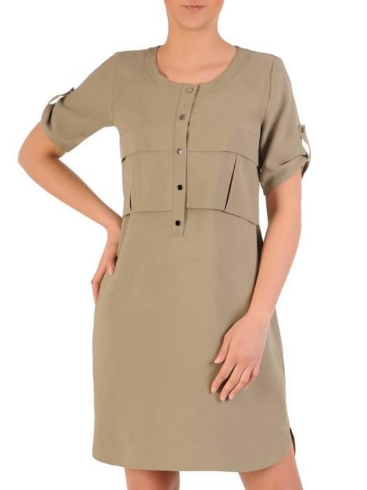 Letnia, przewiewna sukienka w kolorze khaki 29648