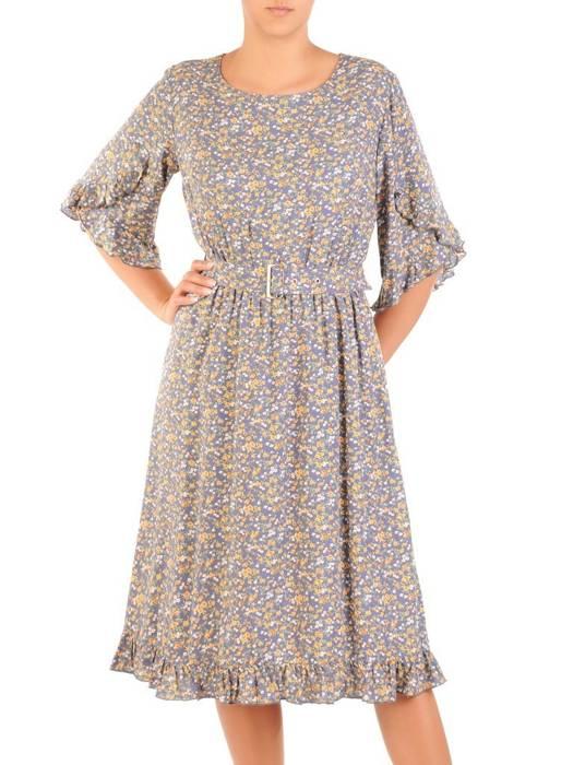 Letnia sukienka w kwiatowy wzór, kreacja z falbankami 30174