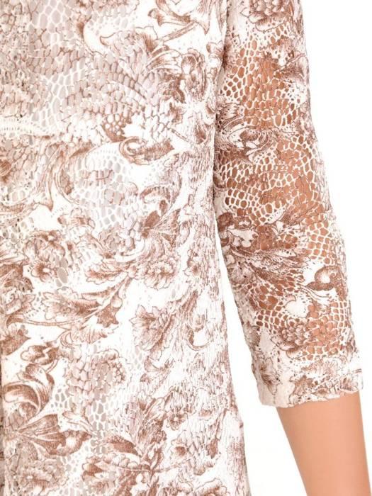 Luźna sukienka z kontrafałdą, oryginalna kreacja z półgolfem 30181