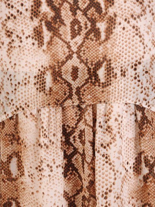Luźna sukienka z szyfonu, zwiewna kreacja w zwierzęcy wzór 30675