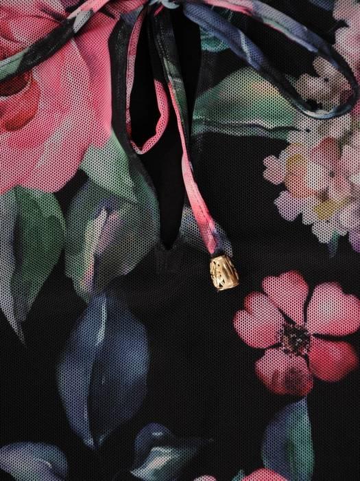 Luźna tunika w kwiatowy wzór 30449