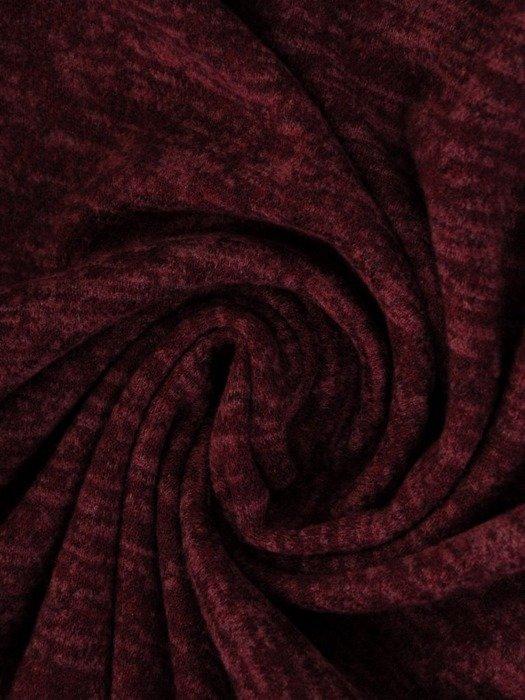 Melanżowa sukienka z modnym kominem, dzianinowa kreacja na zimę 24111