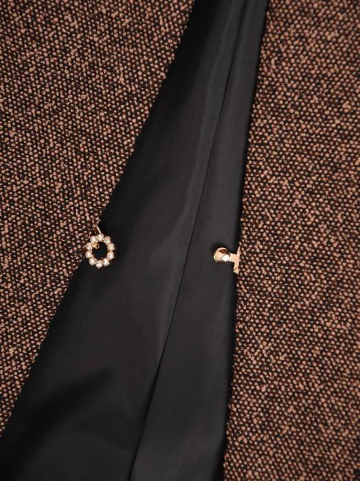 Melanżowy żakiet damski zapinany na ozdobną haftkę 30656