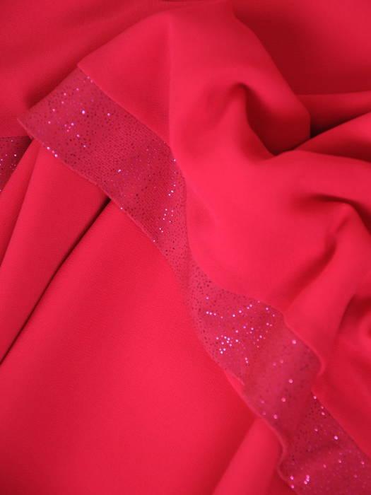 Miętowa sukienka z szyfonu, zwiewna kreacja z falbanami 30972