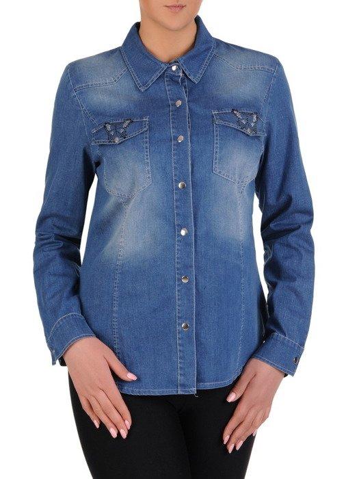 Modna koszula z błękitnego dżinsu Malwina V.