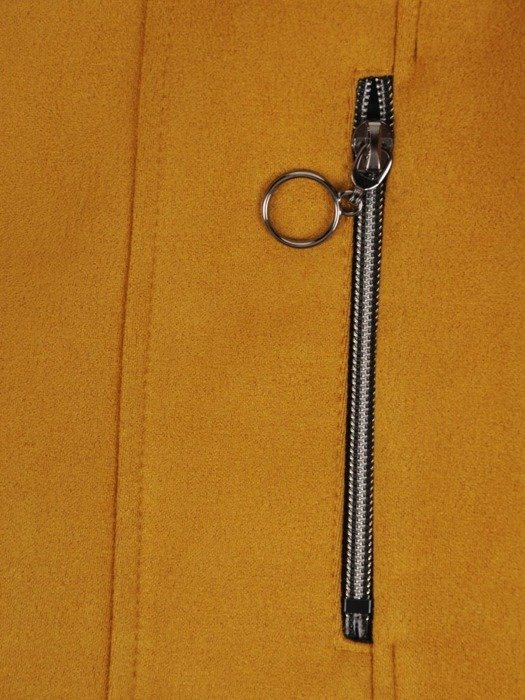 Musztardowy żakiet z modnymi suwakami 25743