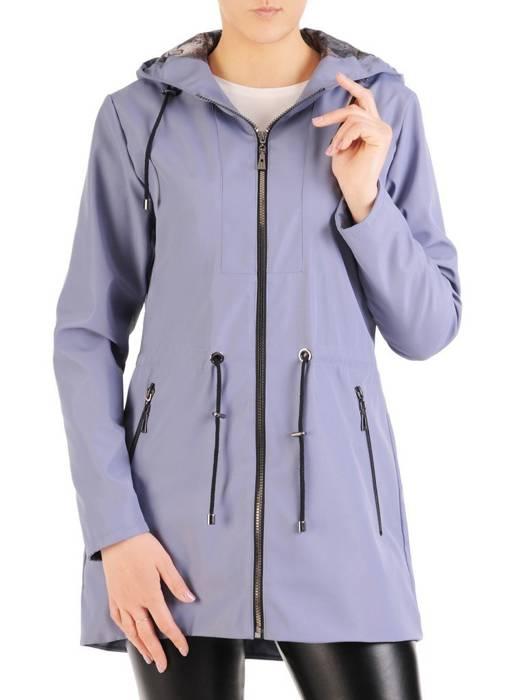 Niebieska kurtka na wiosnę ze ściągaczem w pasie 29418