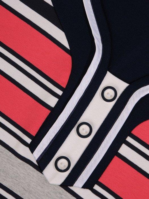 Nowoczesna bluzka w paski 14592.