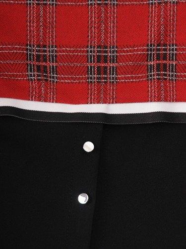 Nowoczesna bluzka z modnym wykończeniem Augusta II.