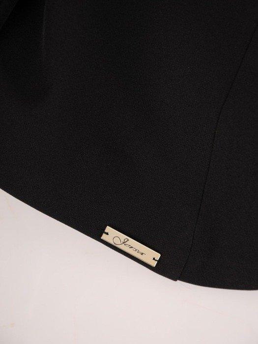 Nowoczesny czarny żakiet 25128