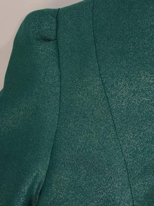 Nowoczesny, zielony żakiet z połyskiem 27755