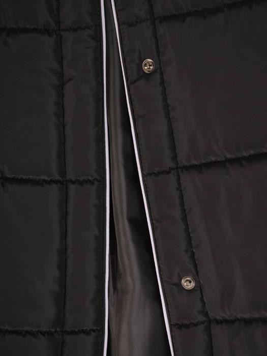 Ocieplana kurtka z pikowanej tkaniny z kapturem 30670