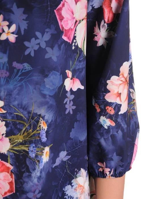 Oryginalna bluzka, tunika z gumką przy dekolcie 29501