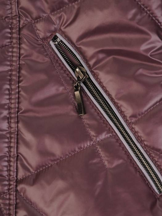 Pikowana kurtka damska na wiosnę we wrzosowym kolorze 28959