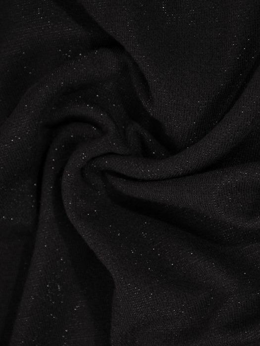 Połyskująca sukienka w nowoczesnym fasonie, czarna kreacja na jesień  22189.