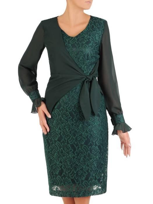 Połyskująca sukienka z ozdobnym, wyszczuplającym wiązaniem 27387