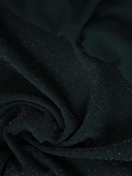 Połyskująca szyfonowa sukienka z połyskującą listwą, kreacja w modnym fasonie 24533