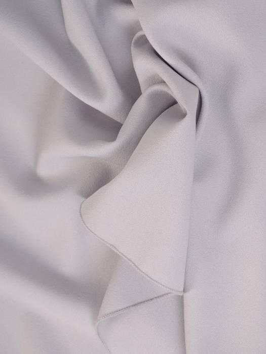 Popielata sukienka z dłuższym tyłem i ozdobnymi ramiączkami 29258