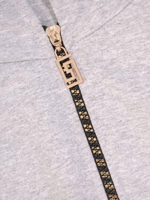 Popielaty dres damski, wygodne spodnie z bluzą zapinaną na zamek 29676